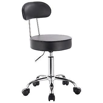 Saturn Adjustable Height Massage Stool w/Wheels