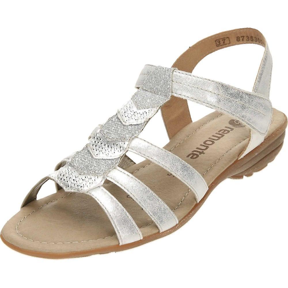 Remonte Silver Strappy Flat Gladiator Glitter T Bar Sandals