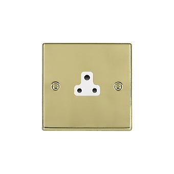 Hamilton Litestat Hartland Polished Brass 1g 2A Unswitched Socket WH