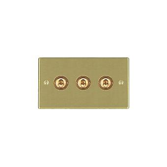 Hamilton Litestat Hartland Satin Brass 3g 20AX 2Way Toggle SB