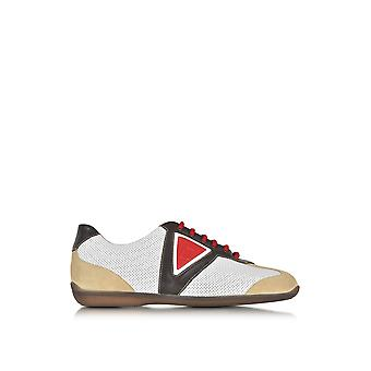 A.Testoni men's M70340SEH97711GDE multicolour leather of sneakers