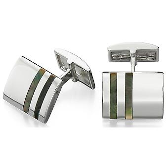 925 Silver Black Mother Of Pearl Fashionable Cufflink