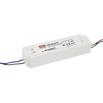 Mean Well LPC-60-1050 LED driver Constant current 50.4 W 1.05 A 9 - 48 Vdc not dimmable, Surge protection