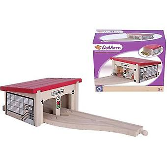 Eichhorn Wooden train set Train depot 100001515