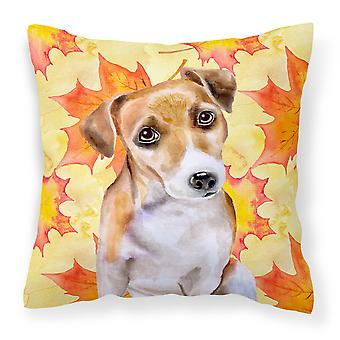 Jack Russell Terrier #2 Fall Fabric Decorative Pillow
