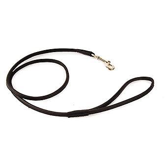 Round Leather Lead Black 90cmx8mm