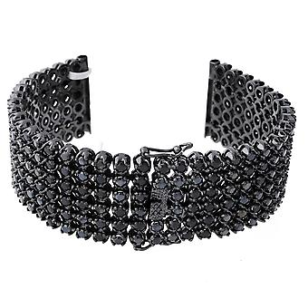 Iced out BLING watches bracelet - 6 ROW FULL BLACK