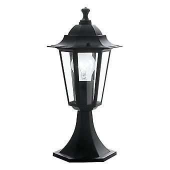 Eglo Lanterna Small Black Pillar Lantern Light