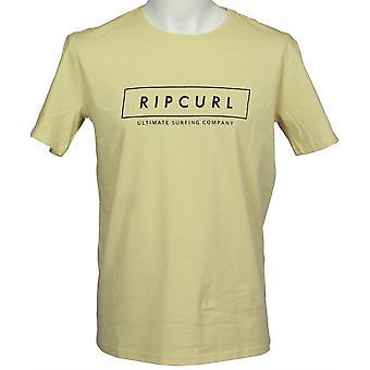 Rip Curl Mens T-Shirt ~ jaune Logo Undertow