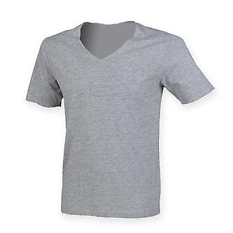 Skinni Fit Men Mens Wide V-Neck T Shirt