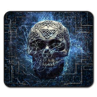 Lightning Skull  Non-Slip Mouse Mat Pad 24cm x 20cm | Wellcoda
