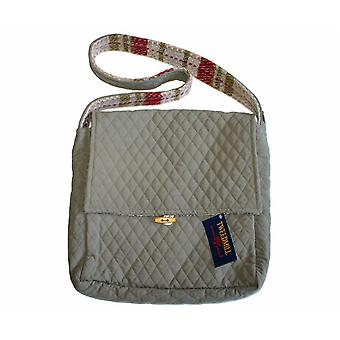Sage Quilted & Wool Random Recycled Shoulder Bag