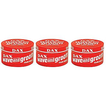 DAX Wave & Groom Hair Dress Red 99g (3-PACK)