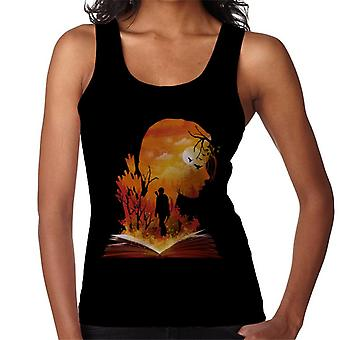 Hunger Games Katniss siluett Sunset kvinnor Vest