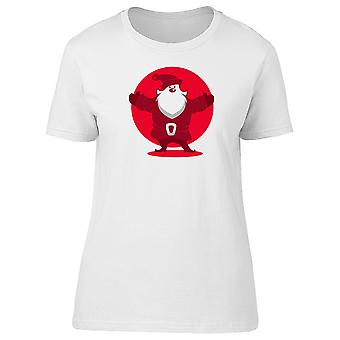 Santa Claus Happy Face Tee Women's -Image by Shutterstock