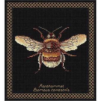 Bumble Bee On Aida Counted Cross Stitch Kit-8