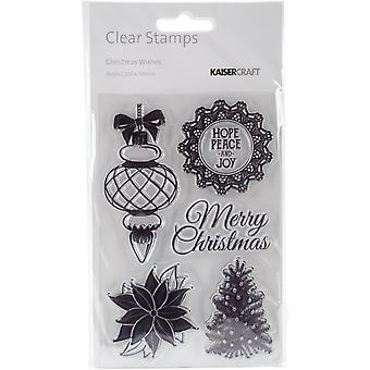 Noël voeux Clear Stamps 6