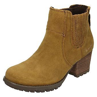 Ladies Caterpillar Leather Slip On Ankle Boots Allison