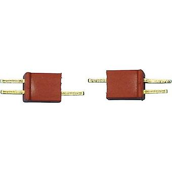 Battery plug, Battery receptacle Micro-TPlug connector 1 pair Modelcraft 71307