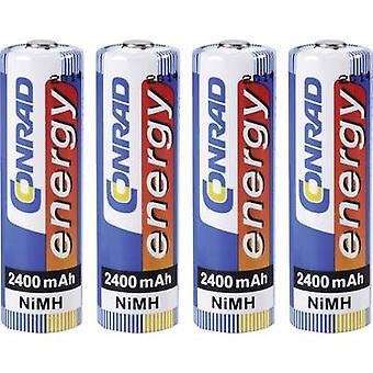 Conrad energy HR06 AA battery (rechargeable) NiMH 2400 mAh 1.2 V 4 pc(s)