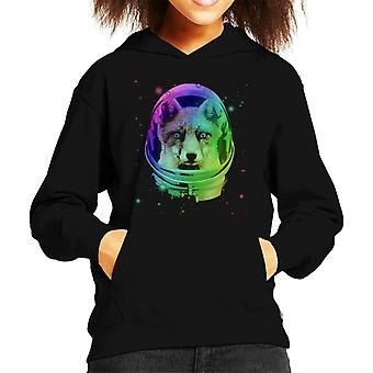Space Fox Kid's Hooded Sweatshirt