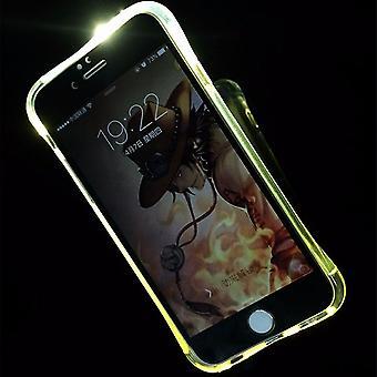 Handy Hülle LED Licht bei Anruf für Handy Apple iPhone 7 Transparent