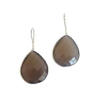 Kroonluchter zilveren oorbellen edelsteen oorbellen 925 zilveren oorbellen zilver