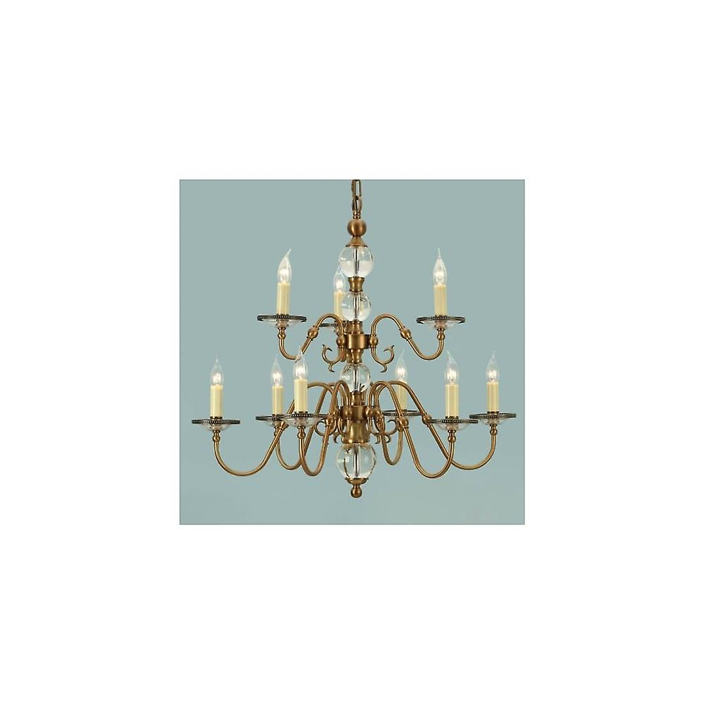 Interiors 1900 Tilburg 9 Light Flemish Chandelier In Antique Brass