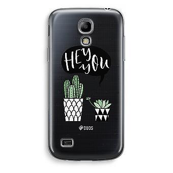 Samsung Galaxy S4 Mini Transparent Case - Hey you cactus