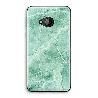 HTC U Play Transparent Case (Soft) - Green marble