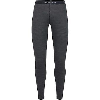 Icebreaker Women's Oasis Leggings Stripe - Black/Snow