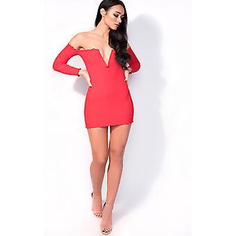 IKRUSH Womens Nicky Long Sleeve Luxe Bandage Dress