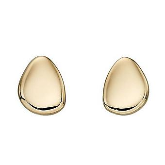 Elements Gold Pebble Stud Earrings - Gold