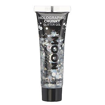 Holographic Chunky Face & Body Glitter Gel by Moon Glitter - 12ml - Silver - Glitter Face Paint