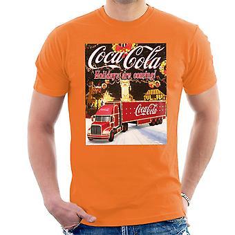 Coca Cola Truck Christmas Market Men's T-Shirt