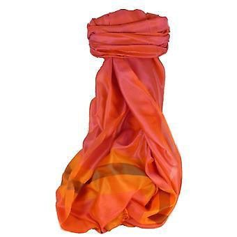 バラナシ国境プライムの絹の長いスカーフ遺産グリー パシュミナ ・ シルクで 909