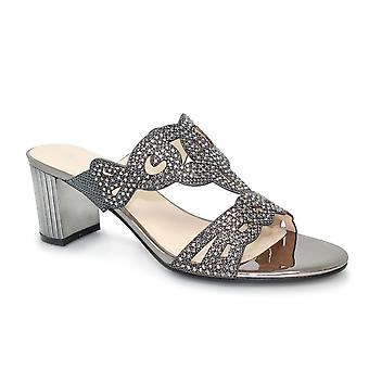 Lunar Kyra Jewelled Mule Heel Sandal