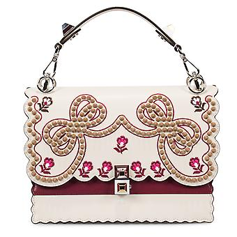 Fendi Medium Multicolor Kan I Leather Bag