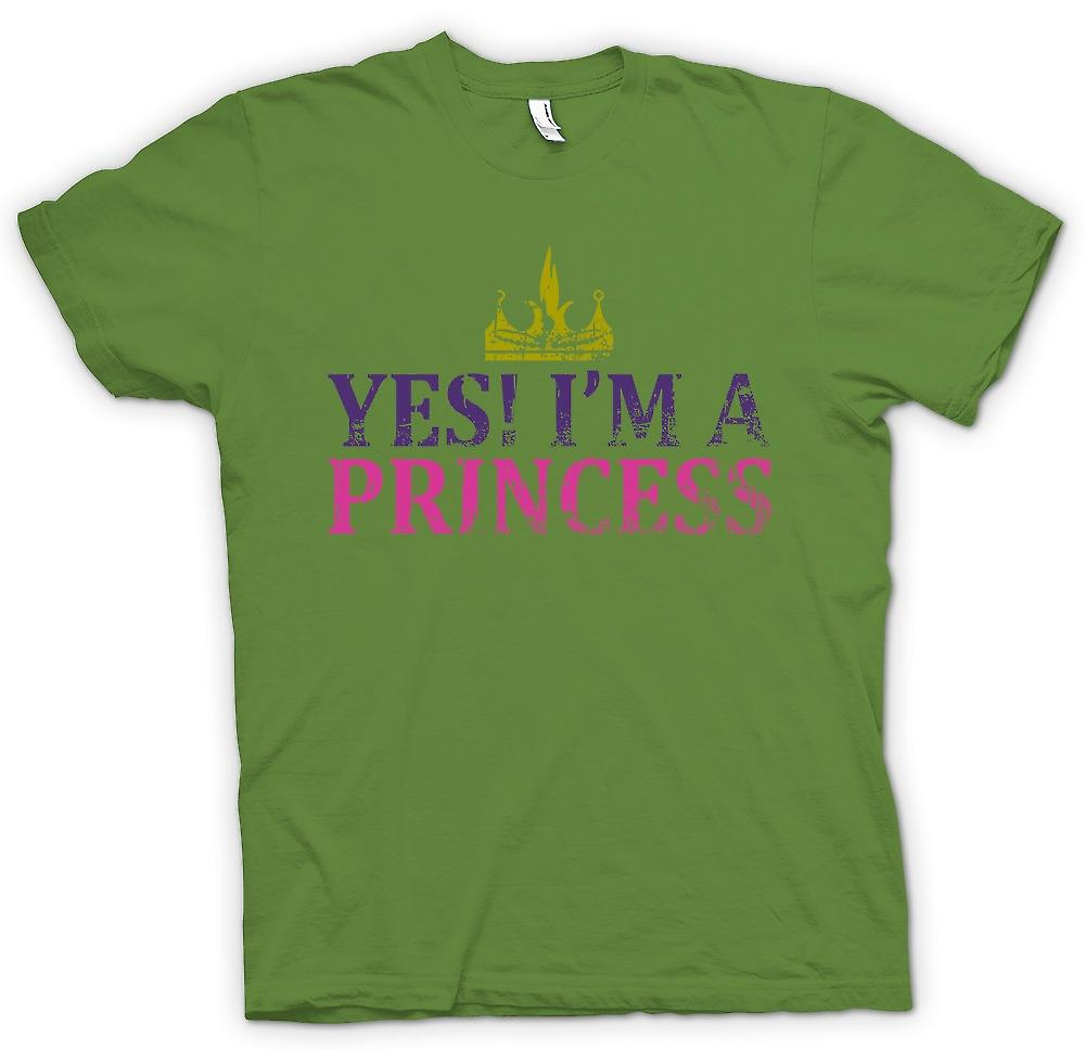 Mens t-shirt - sì Im A Princess - divertente