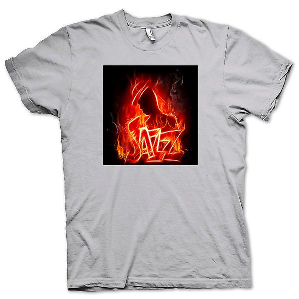 Mens T-shirt - Neon Jazz Design