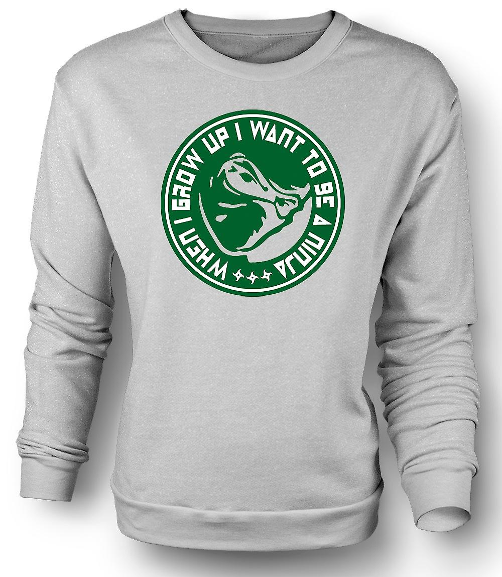 Mens Sweatshirt I Wanna Be A Ninja - Funny