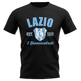 Lazio établi Football T-Shirt (Black)