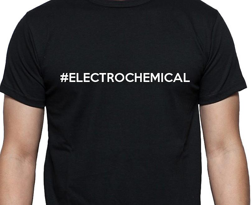 #Electrochemical Hashag Electrochemical Black Hand Printed T shirt