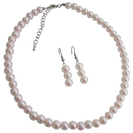 Custom Junior Bridesmaid Jewelry For Younger Bridesmaid Pale Pink