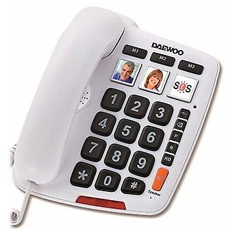 Phone for people older Daewoo DTC-760 LED white