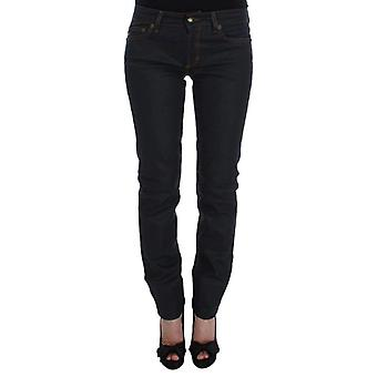 Cavalli Blue Cotton Blend Slim Fit Stretch Jeans -- SIG3844165