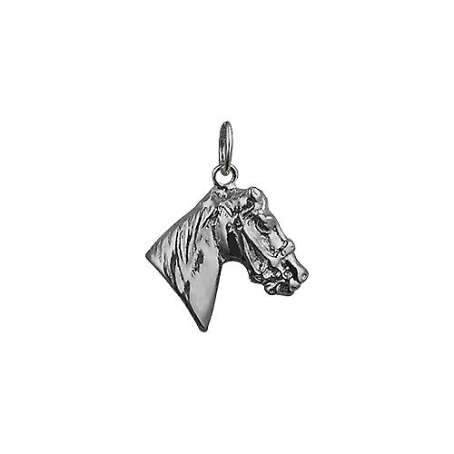Silver 16x18mm Horse's Head Pendant or Charm