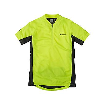 Madison Hi-Viz giallo 2015 Trail Kids MTB breve manica Jersey
