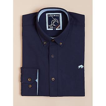 Long Sleeve Signature Oxford Shirt - Navy