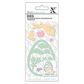 Xcut Small Dies Easter Rabbit (7pcs) (XCU 504117)